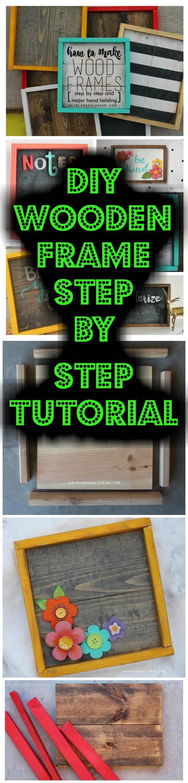 easy handmade wooden photo frame