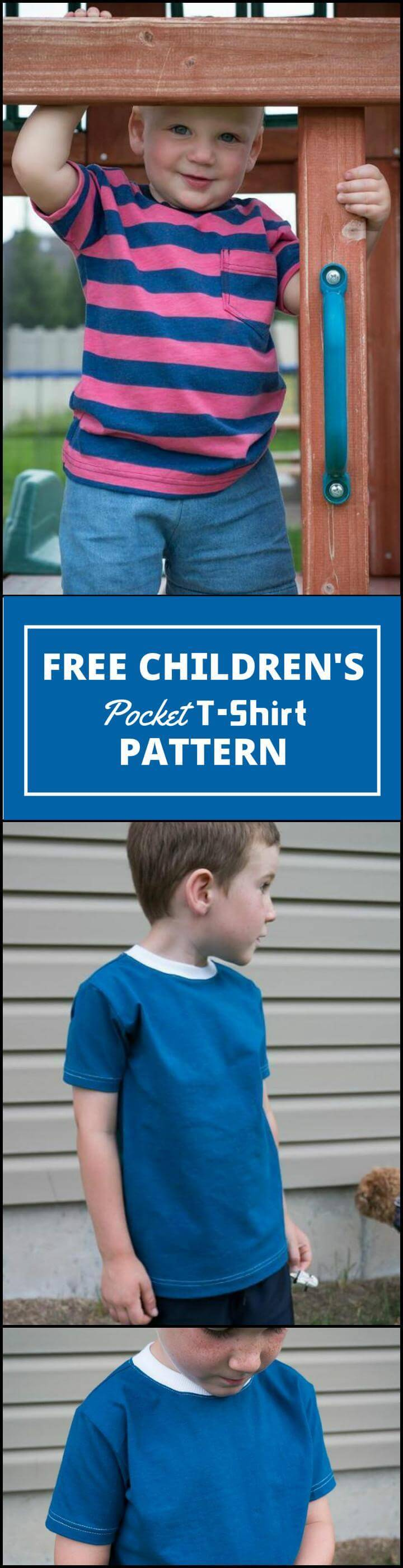 free children's pocket t-shirt pattern