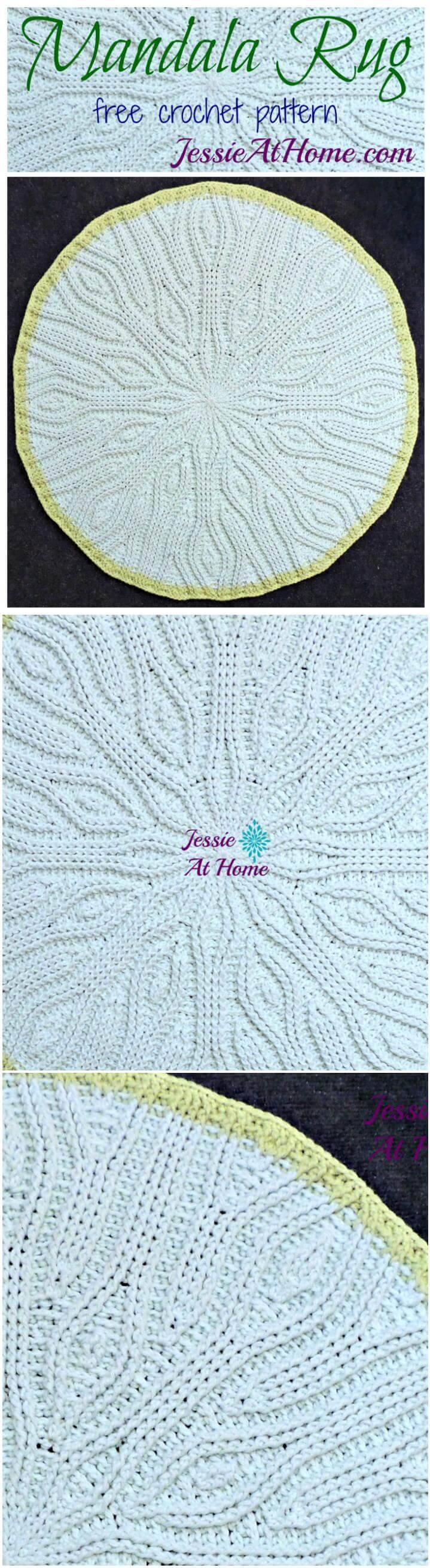 60 Free Crochet Mandala Patterns Diy Crafts Diagram Beautiful Rug Easy