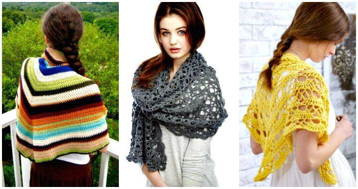 100 Free Crochet Shawl Patterns Free Crochet Patterns Diy Crafts