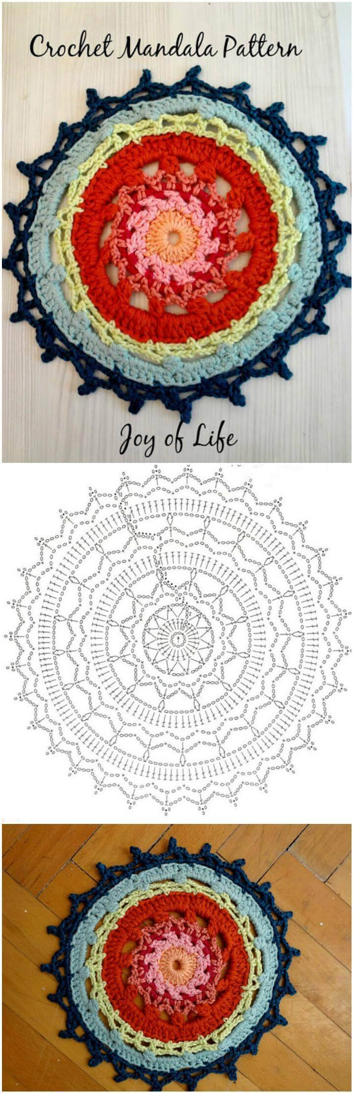 super gorgeous crochet mandala free pattern