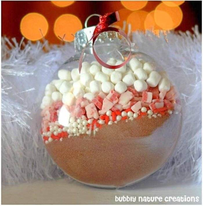 beautiful hot cocoa ornaments