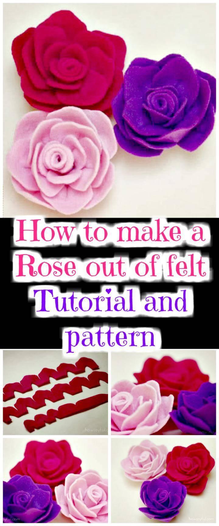 DIY felt rose