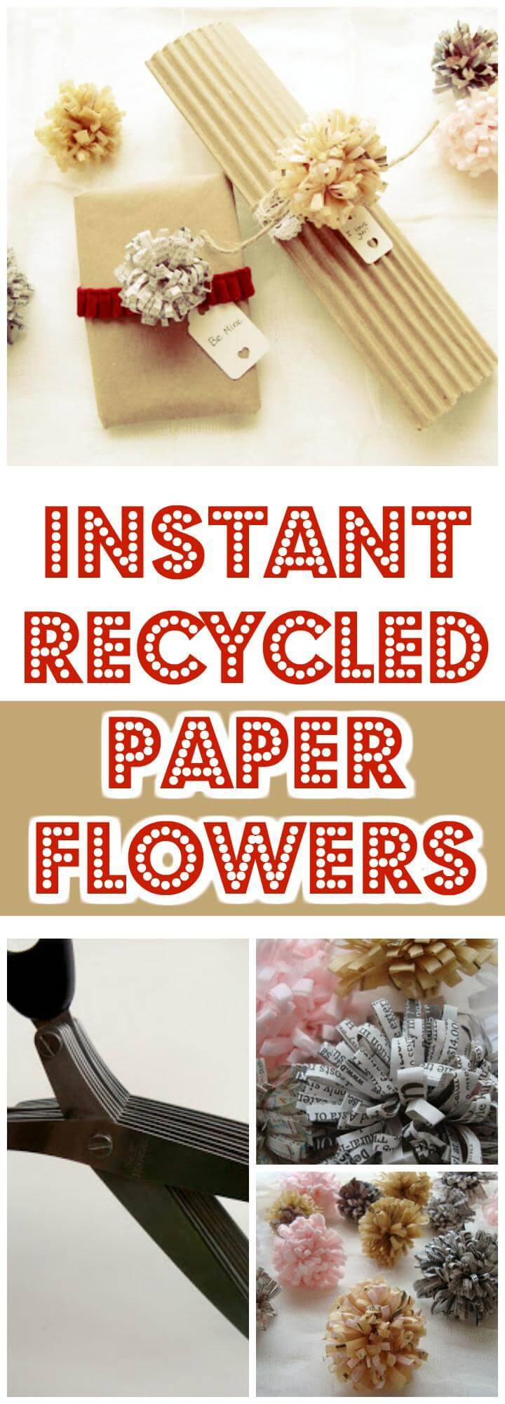 timeless recycled paper flowers