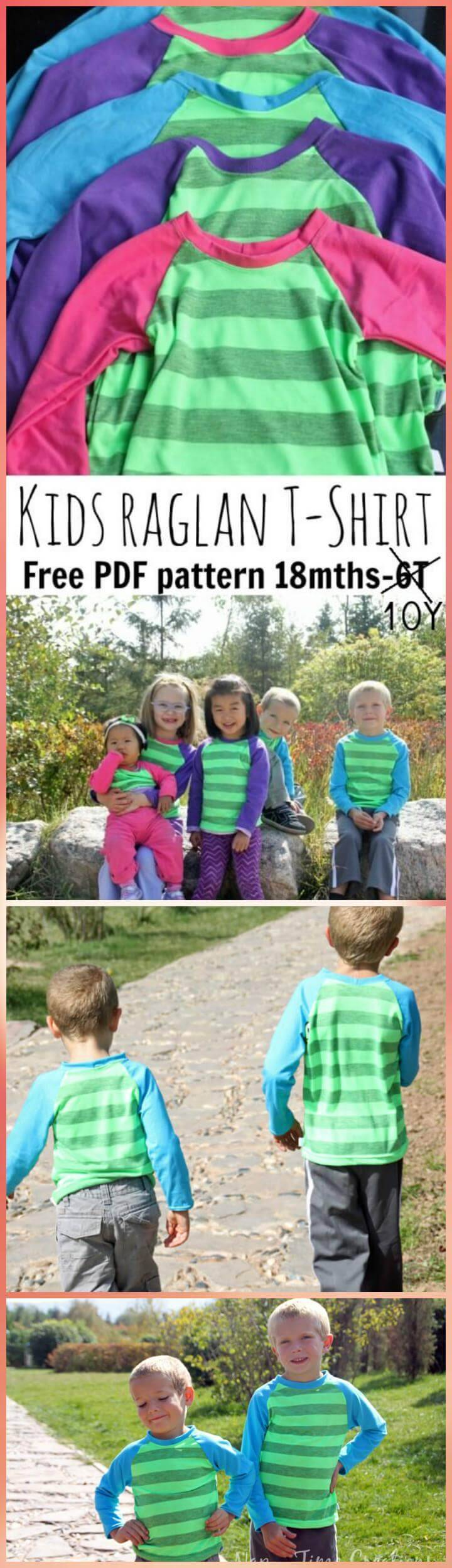 kids easy raglan t-shirt pattern
