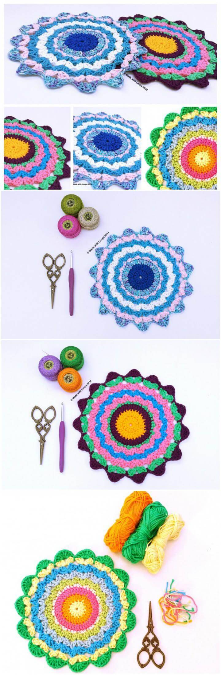 beautiful crochet mandalas