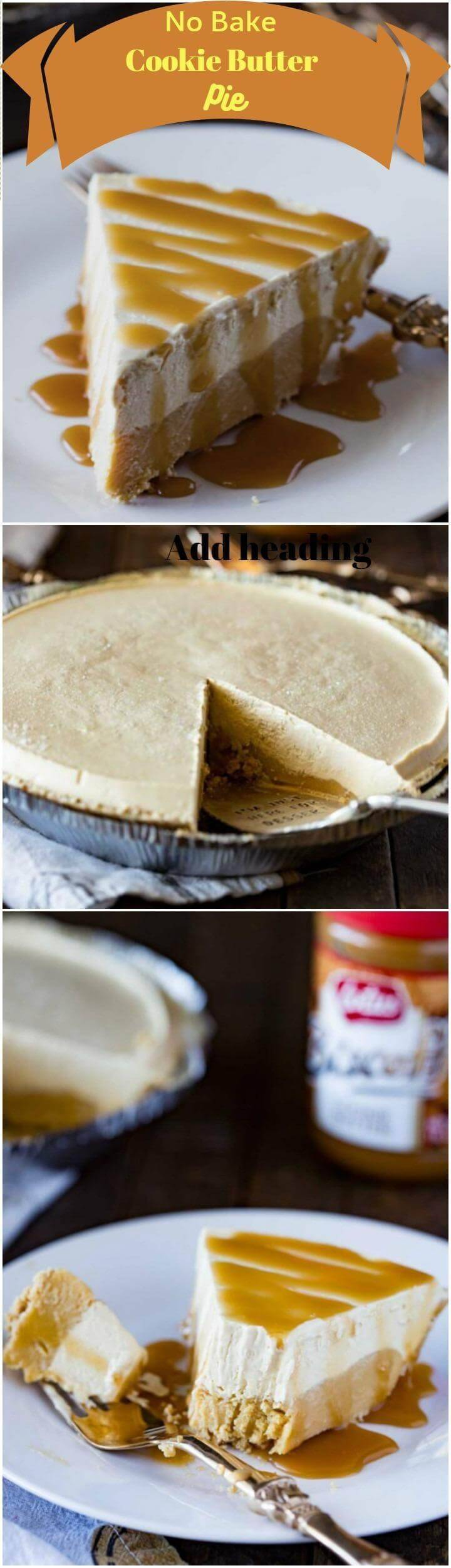 no-bake cookie butter pie
