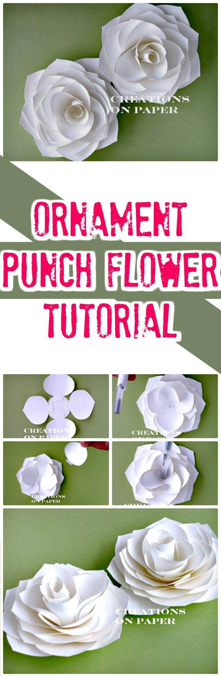 DIY ornament punch flower tutorial