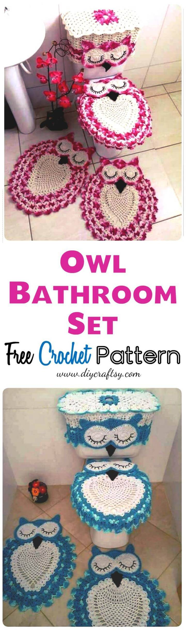 Owl Bathroom Set - Free Crochet Pattern