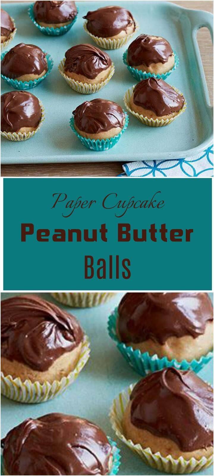 easy paper cupcake peanut butter balls