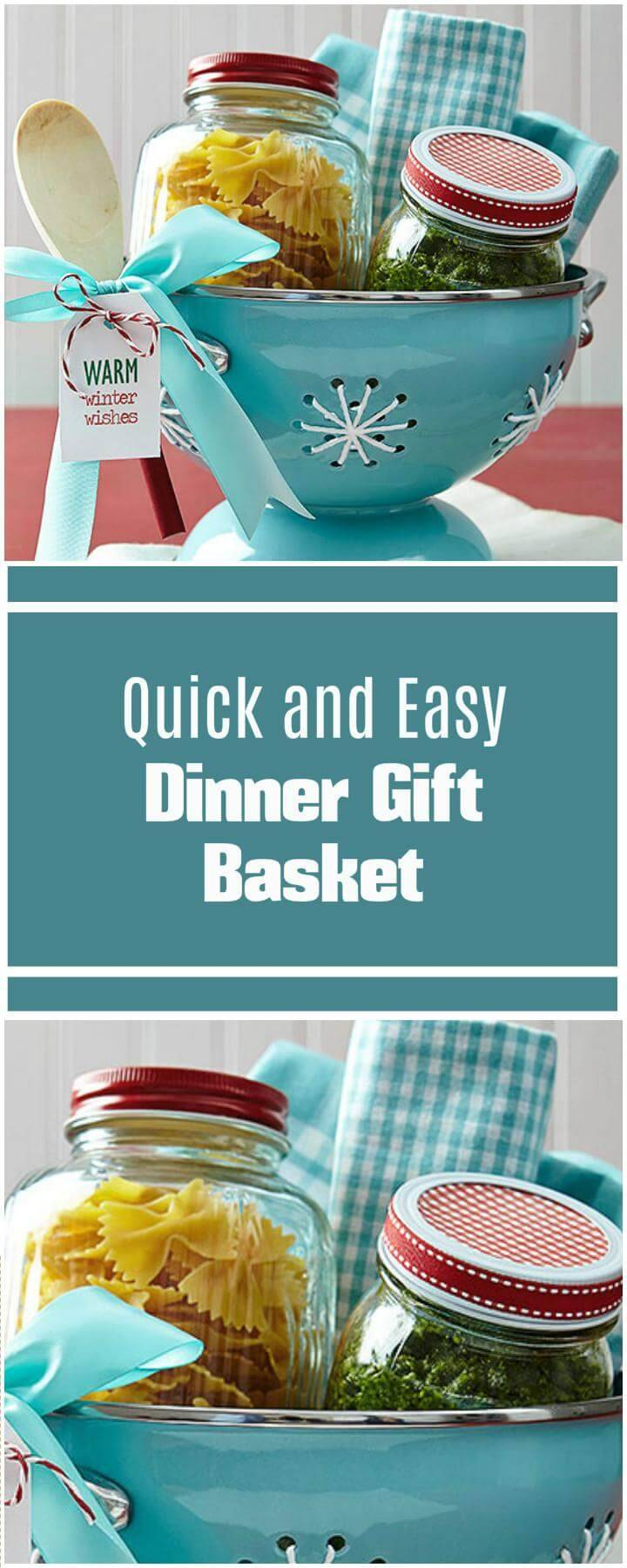 simple and quick dinner gift basket