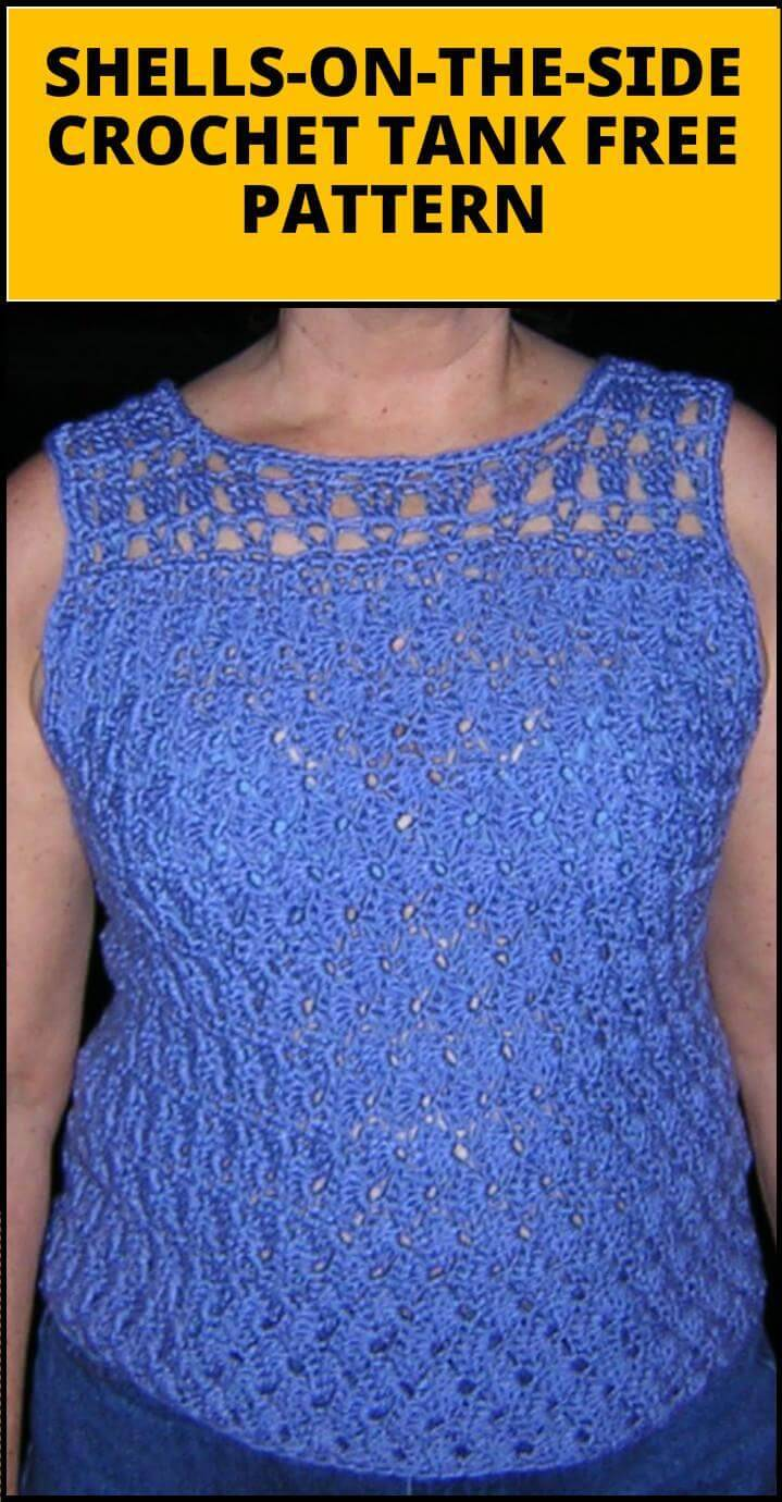 shells-on-the-side crochet tank
