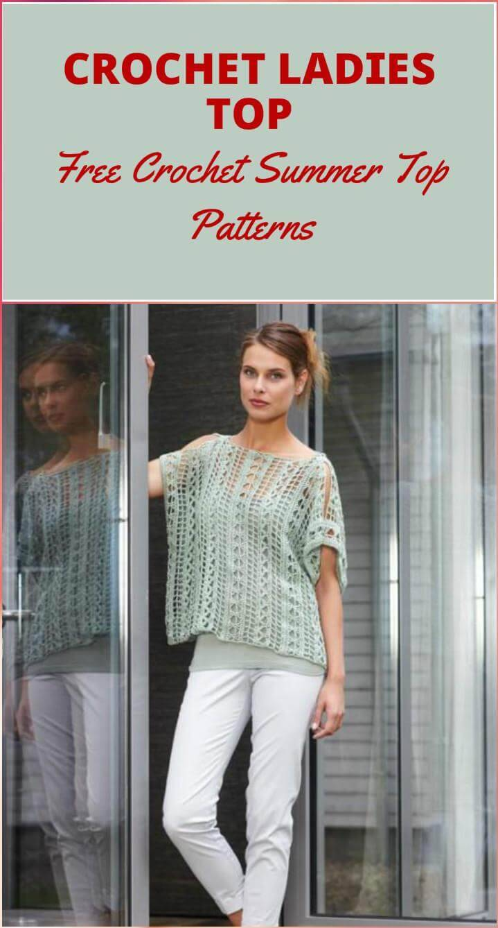 free crochet ladies top
