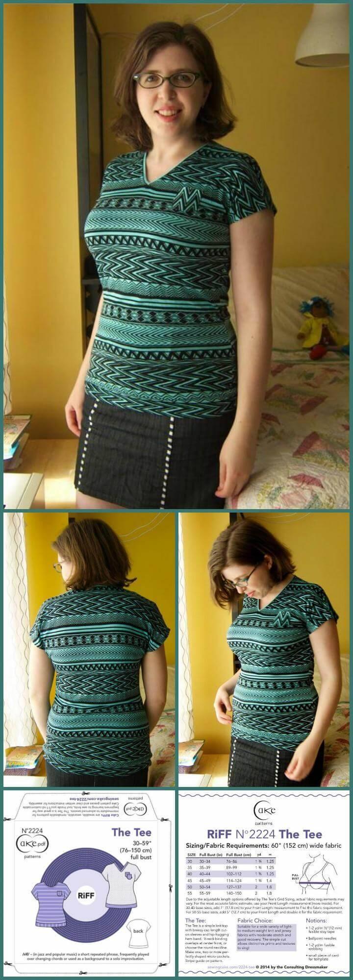 DIY free tee pattern