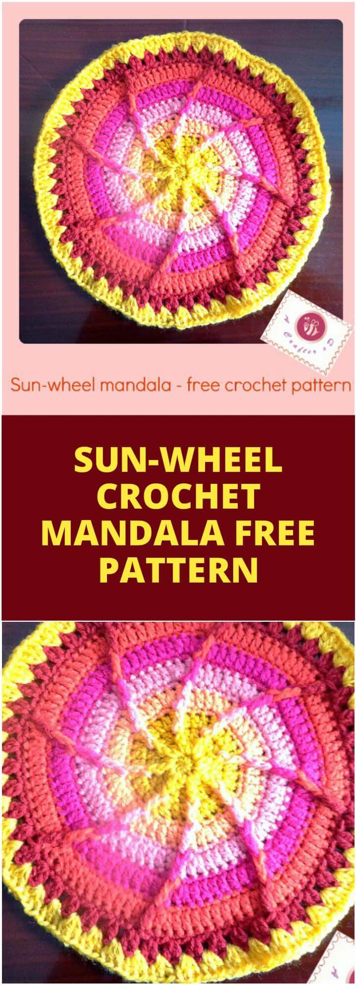 crochet sun-wheel mandala