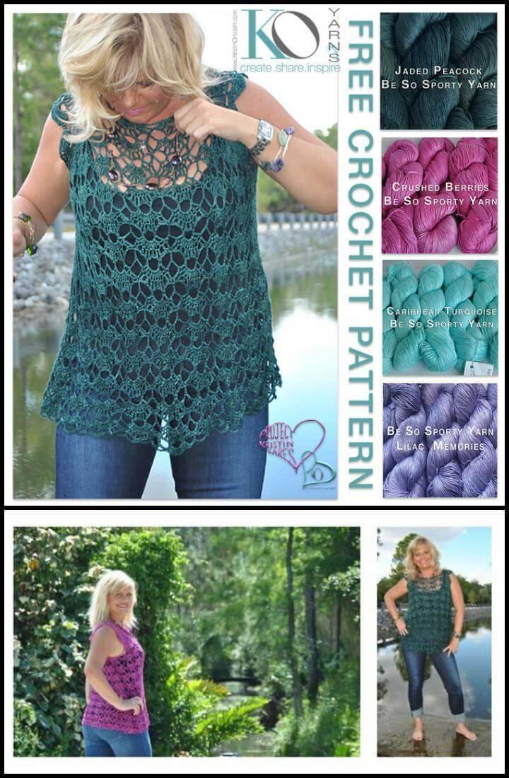 sweet clara crochet pullover