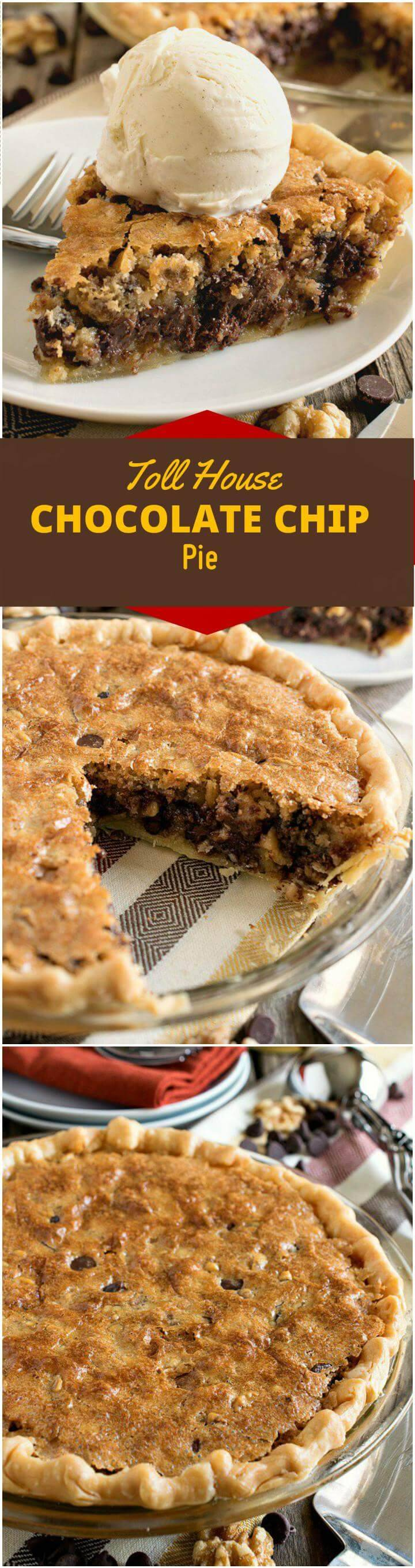 easy toll house chocolate chip pie