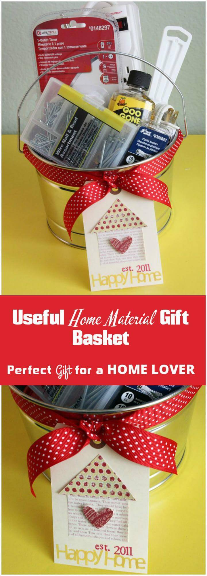 useful home material gift basket