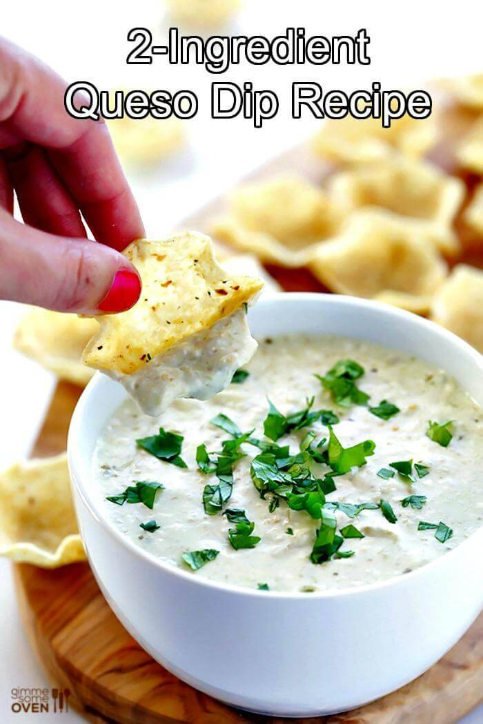 2 ingredient queso dip recipe