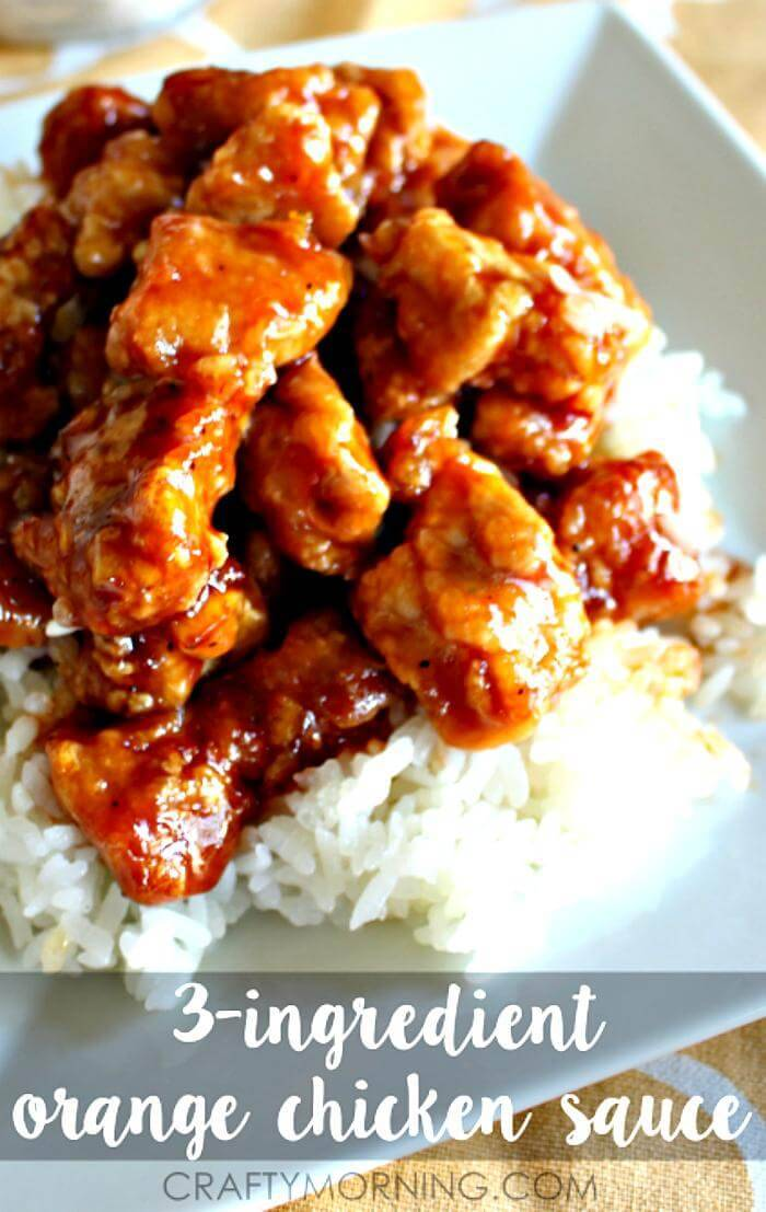 easy 3 ingredient orange chicken sauce recipe
