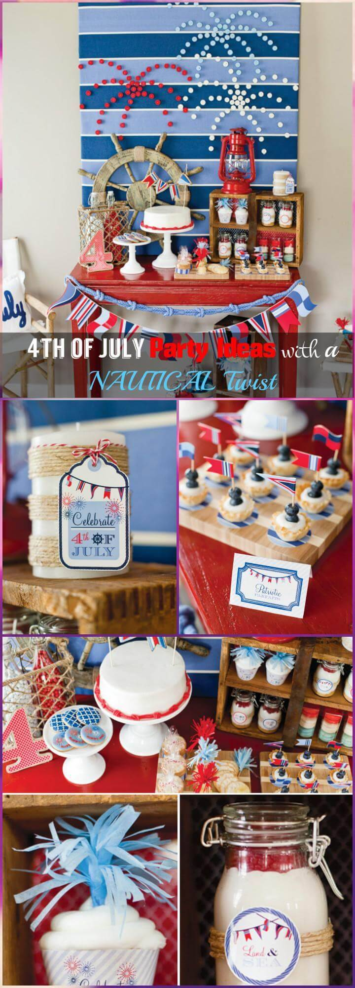 4th of July Party Ideas with a NAUTICAL Twist