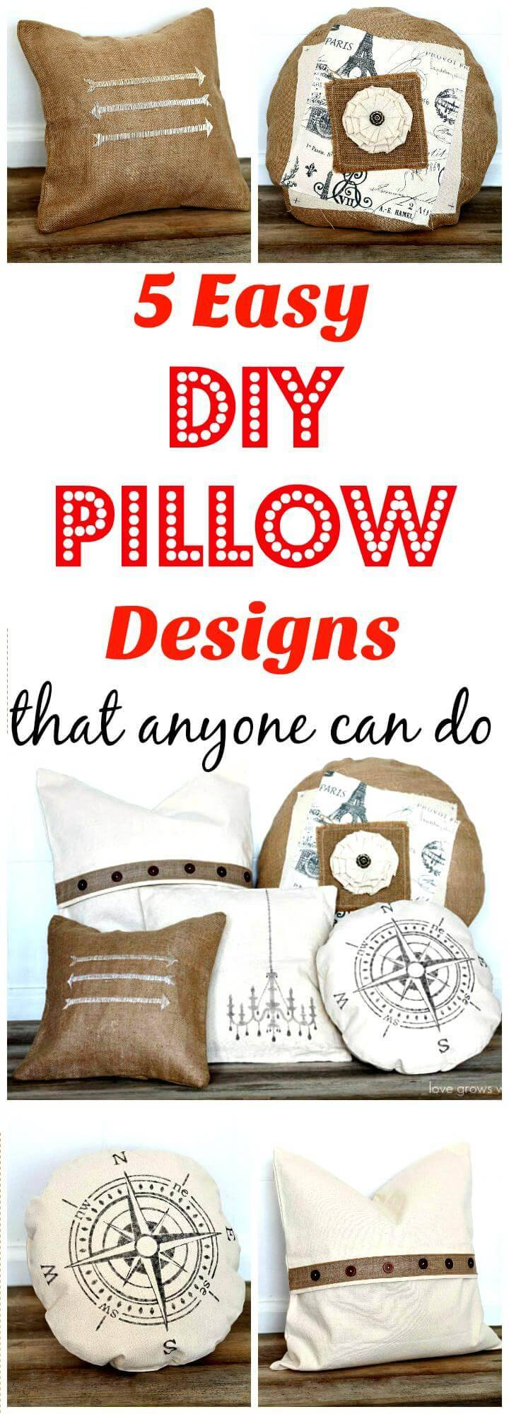 5 easy DIY pillow designs that anyone can do