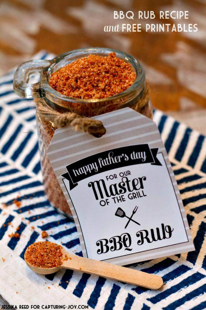 DIY BBQ Rub Recipe and Free Printables Father's Day Gift