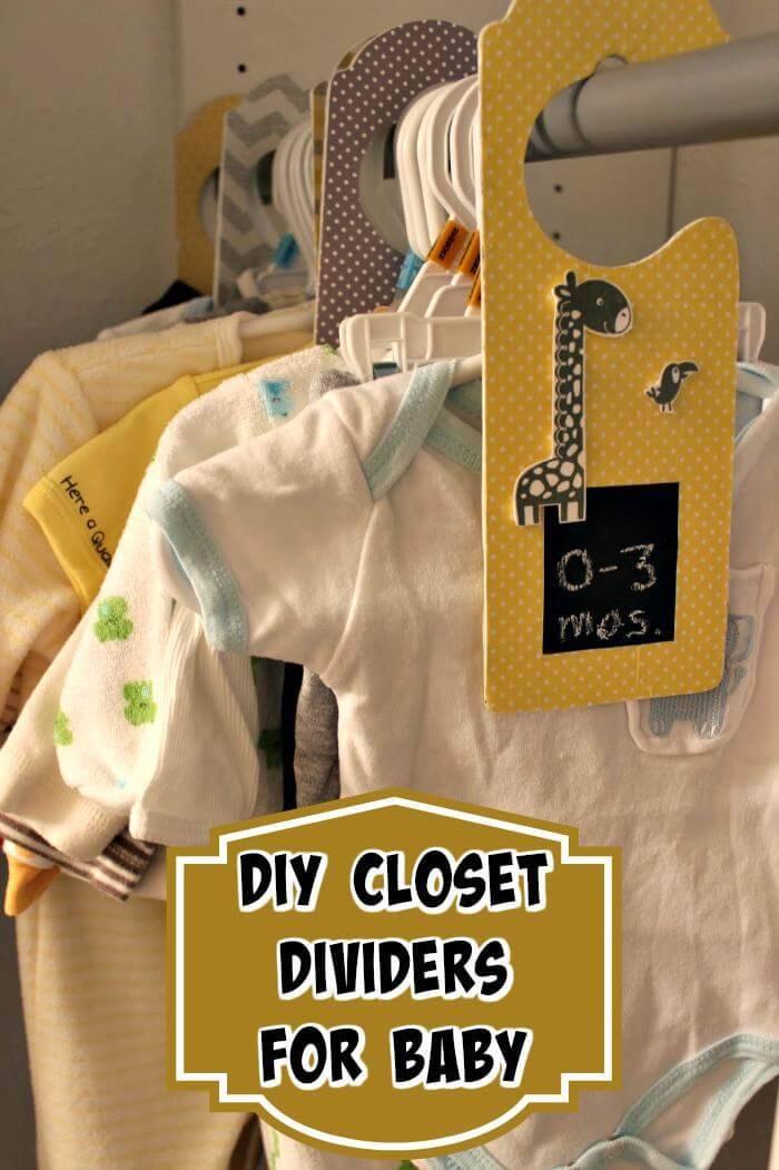 Baby DIY Closet Dividers