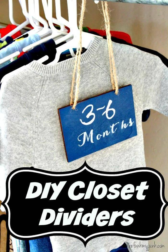 Best Handmade DIY Closet Dividers