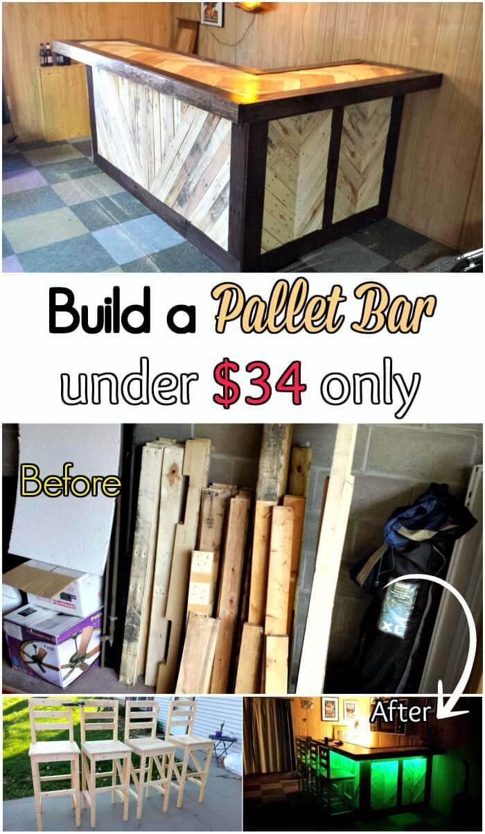 DIY Pallet Bar under $34