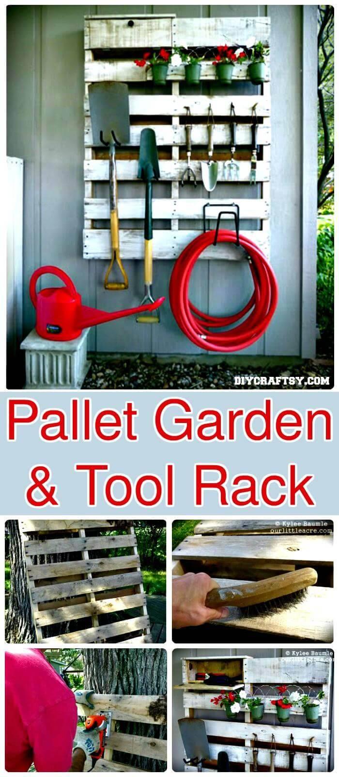 Creative Pallet Project - Pallet Garden & Tool Rack