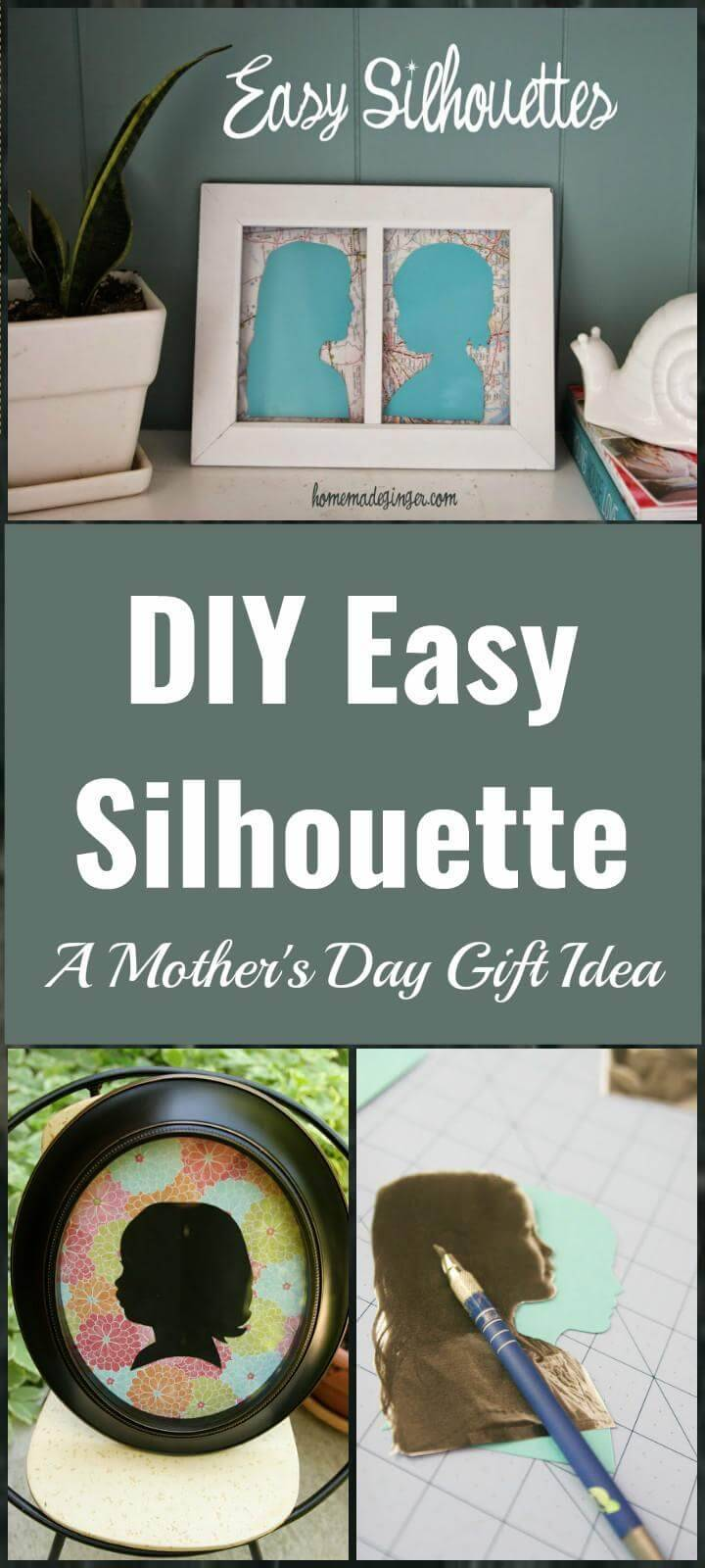 brilliant silhouette Mother's Day gift idea