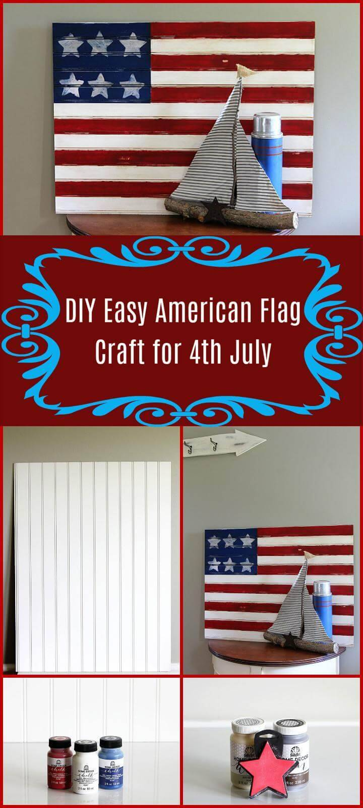 DIY Easy American flag craft for 4th July