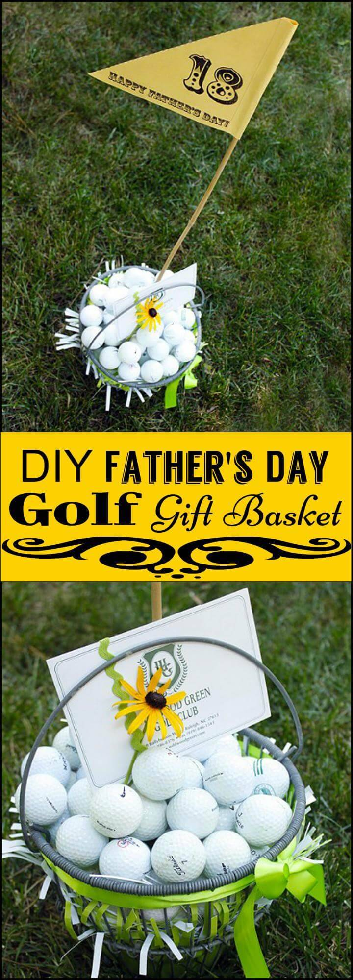 DIY Father's Day Golf Gift Basket