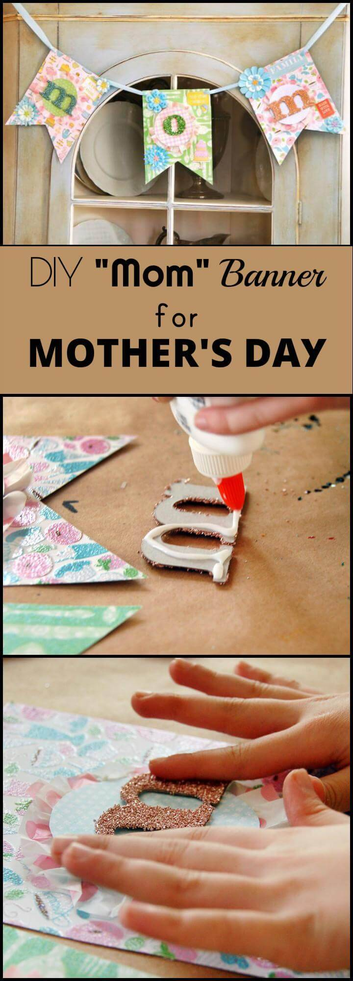 DIY Mom Banner for Mother's Day