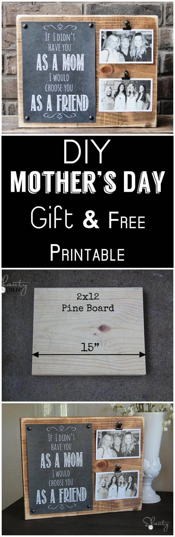 DIY Mother's Day gift and Free Printable
