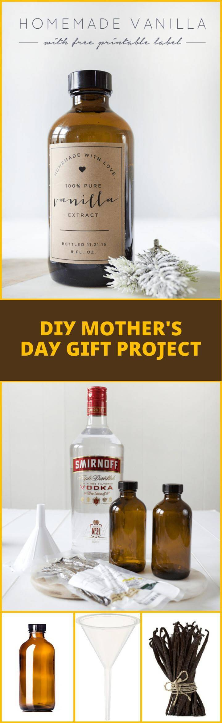 DIY Homemade Vanilla Mother's Day gift idea