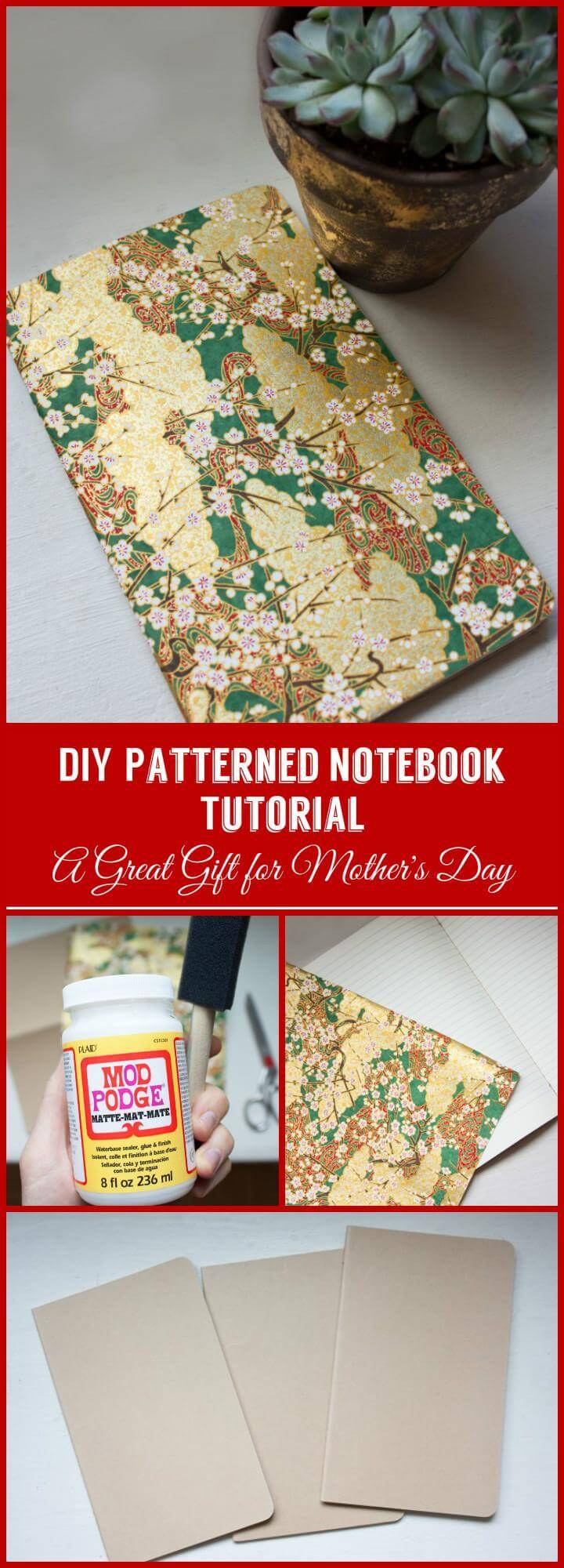 DIY patterned notebook tutorial