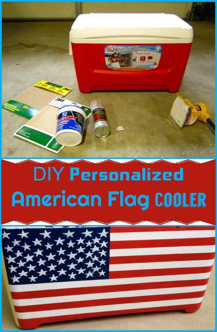 DIY personalized American flag cooler