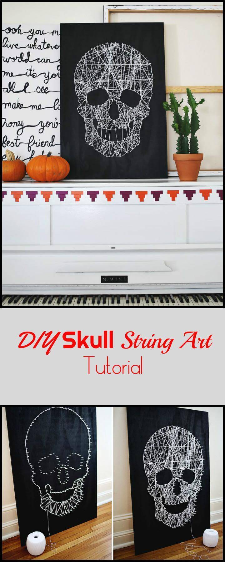 DIY Skull String Art Tutorial