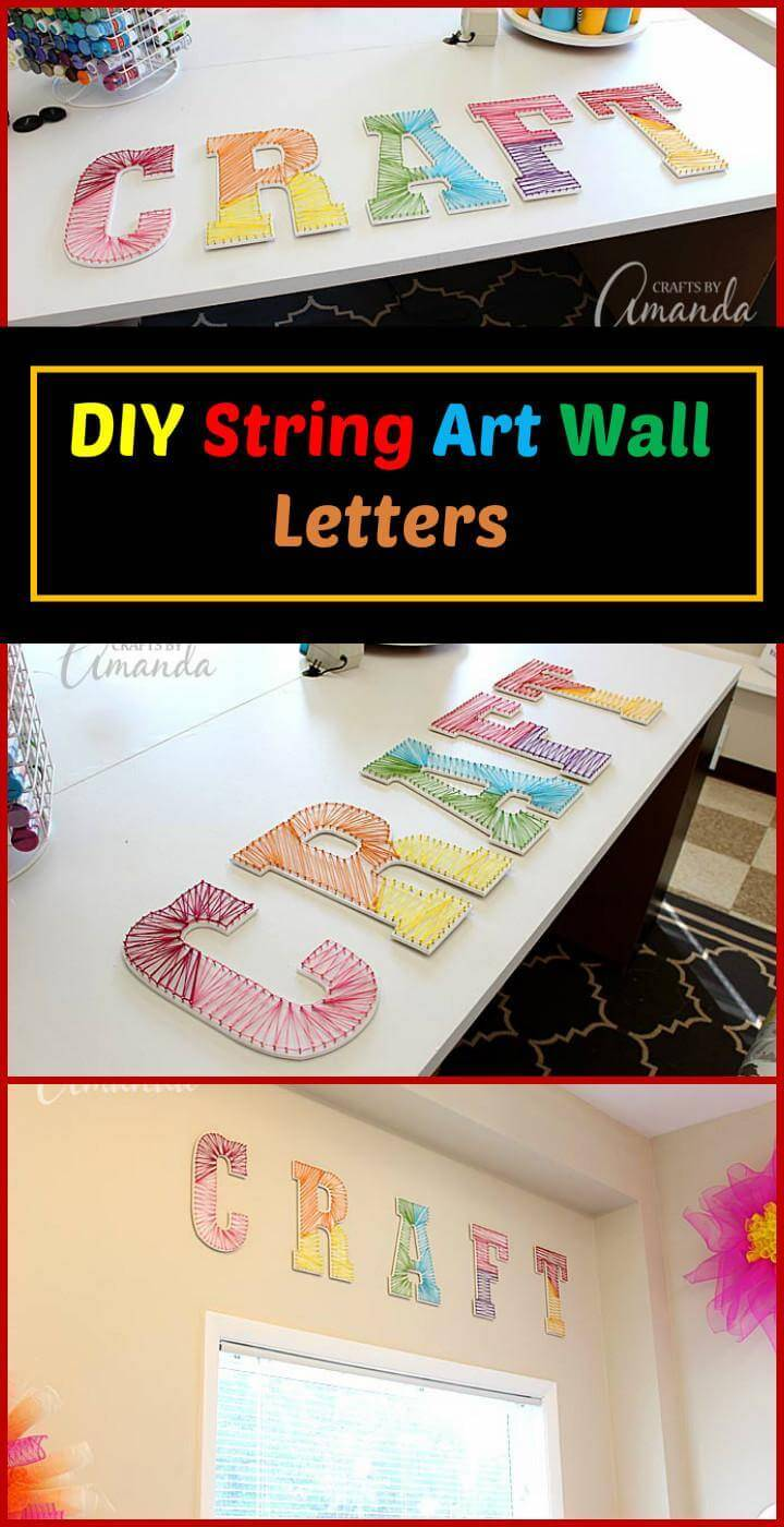 DIY String Art Wall Letters