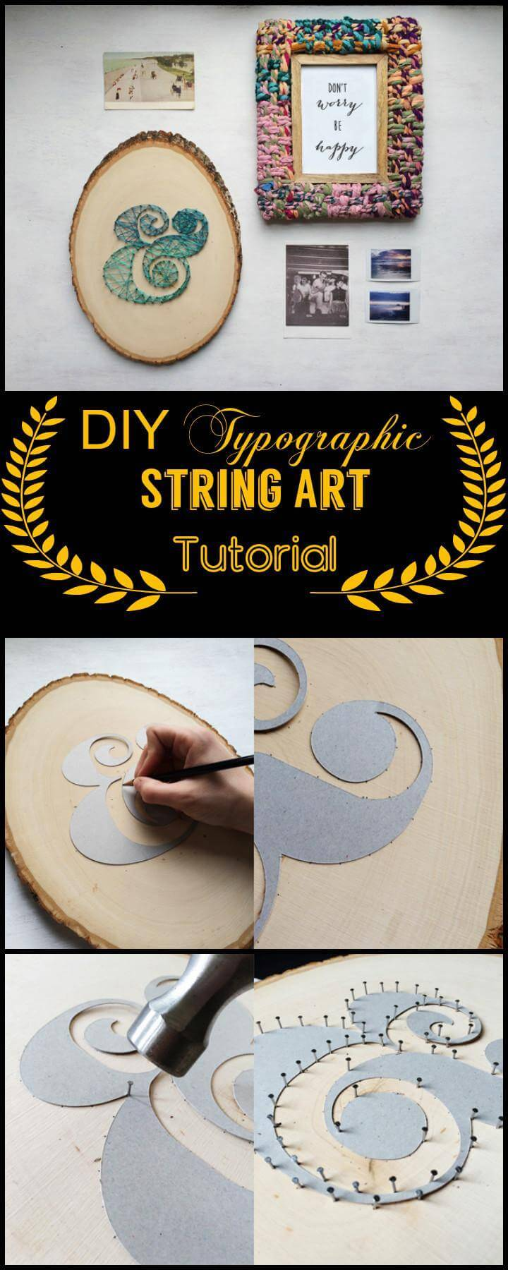 Easy DIY Typographic String Art Tutorial