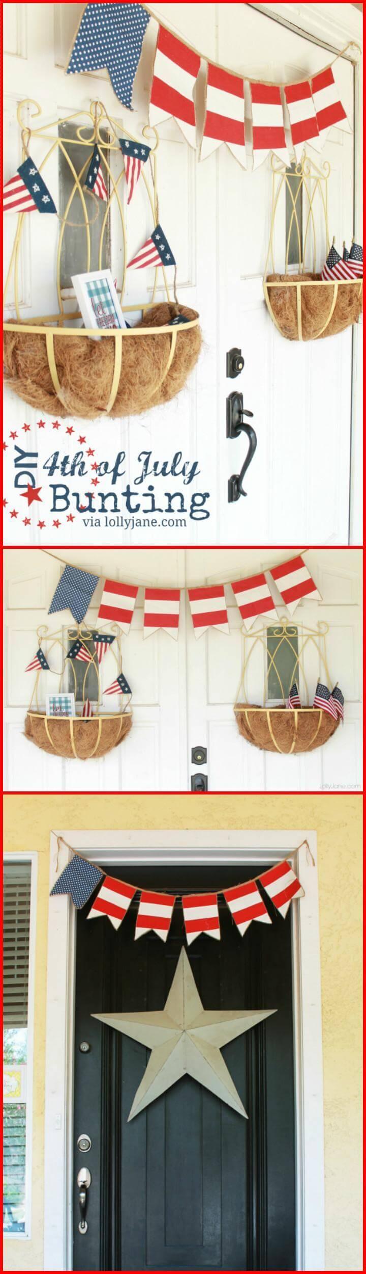 DIY beautiful 4th July Buntings