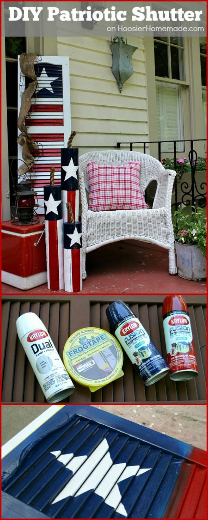 DIY 4th July Patriotic Shutter
