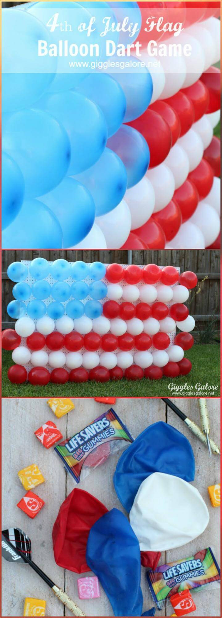 DIY 4th of July Balloon Dart Game