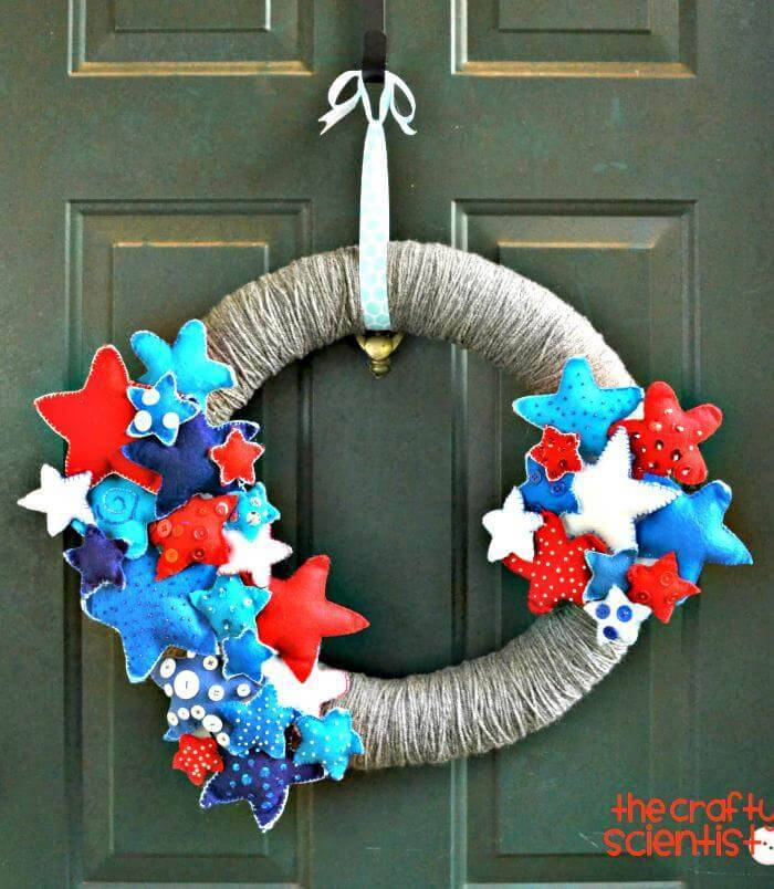 easy 4th of July Wreath DIY