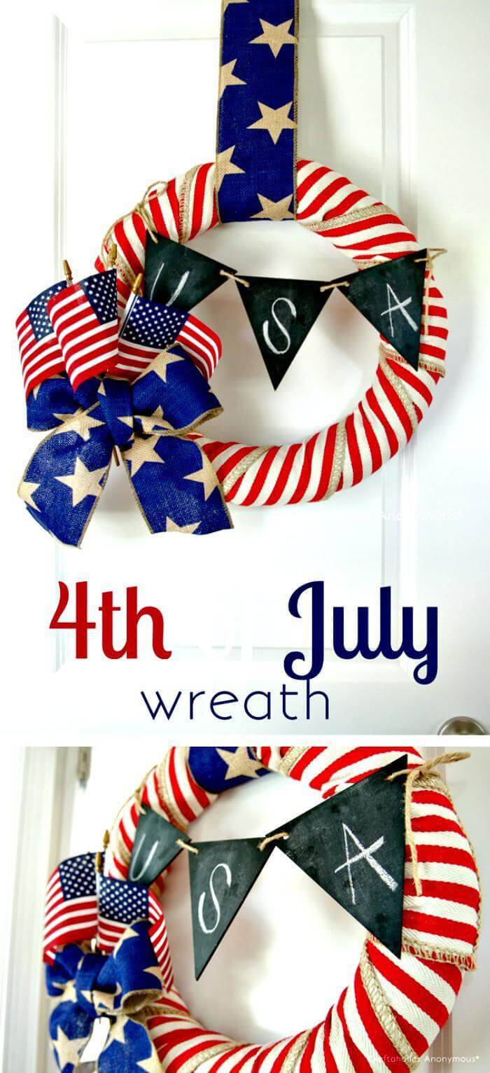 DIY 4th July Wreath tutorial