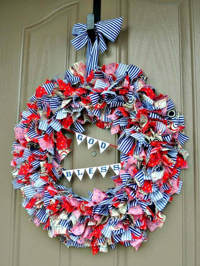 DIY 4th of July Rag Wreath