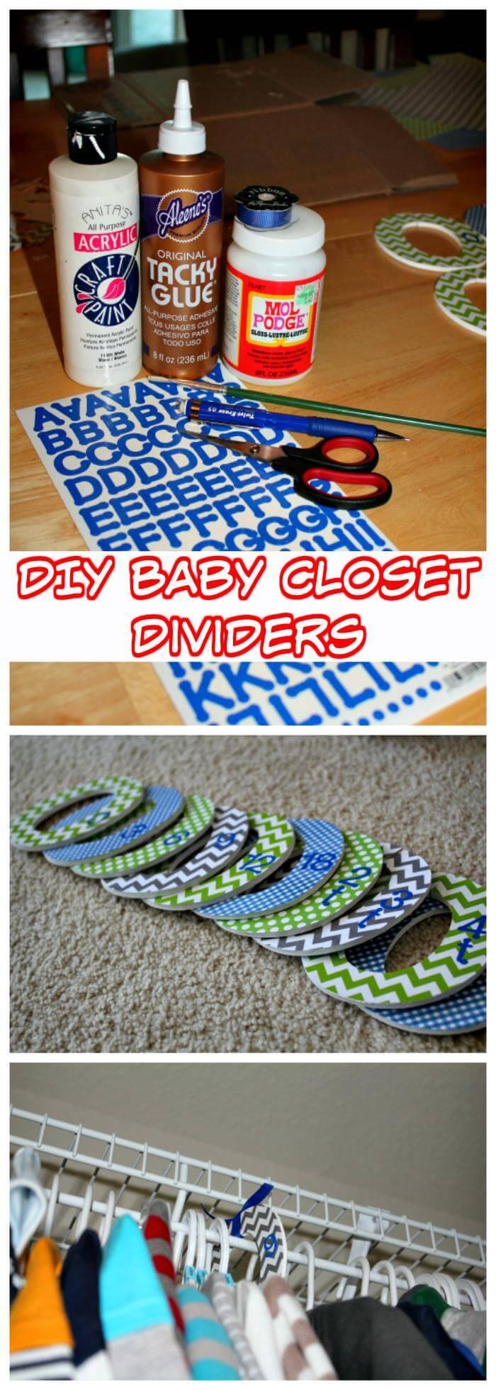 DIY Baby Closet Dividers