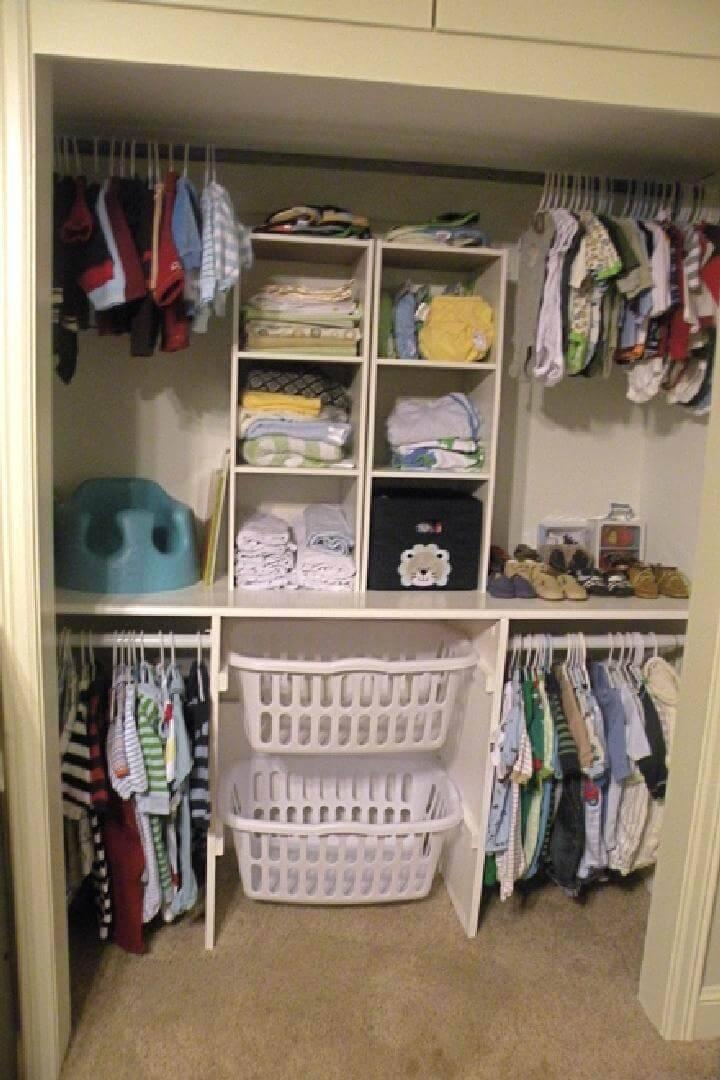 DIY Baby Closet Tutorial